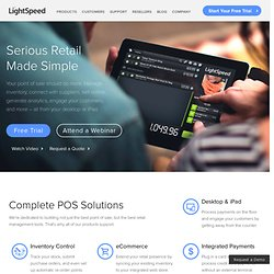 Retail Point Of Sale System   LightSpeed POS