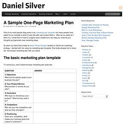 marketing plan templates pearltrees