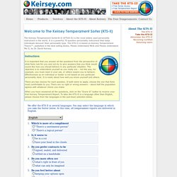 keirsey temperament theory