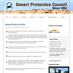 desert facts for kids