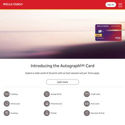 Wells Fargo - Personal & Business Banking - Student, Auto & Home