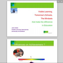hattie visible learning