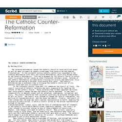 Reformation vs counter reformation pearltrees the catholic counter reformation ccuart Choice Image