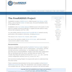 FreeRADIUS: The world's most popular RADIUS Server | Pearltrees