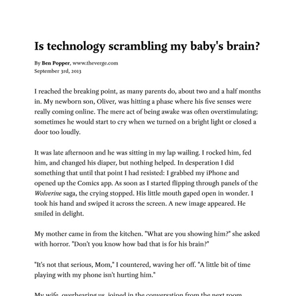 Is technology scrambling my babys brain