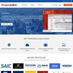 Projectlibre, logiciel de rétroplanning (gestion de projet