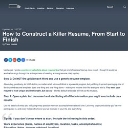 How to Construct a Killer Resume From Start to Finish Pearltrees