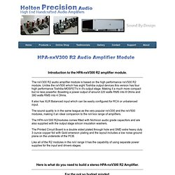 Diy audio projects do it yourself hi fi for audiophiles pearltrees hpa nxv300 380 watt mosfet audio amplifier module solutioingenieria Choice Image