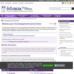 ressources pour l accompagnement personnalise modules pour l accompagn