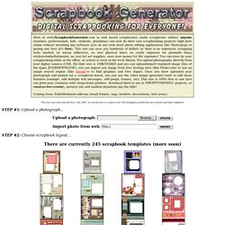 Scrapbook Generator The Web 20 Scrapbooker For Free Online Digital Scrapbookin