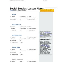 free middle school social studies lesson plans pearltrees