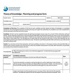 Example tok essays