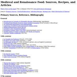Renaissance food recipes food food timeline history vintage recipes pearltrees forumfinder Choice Image